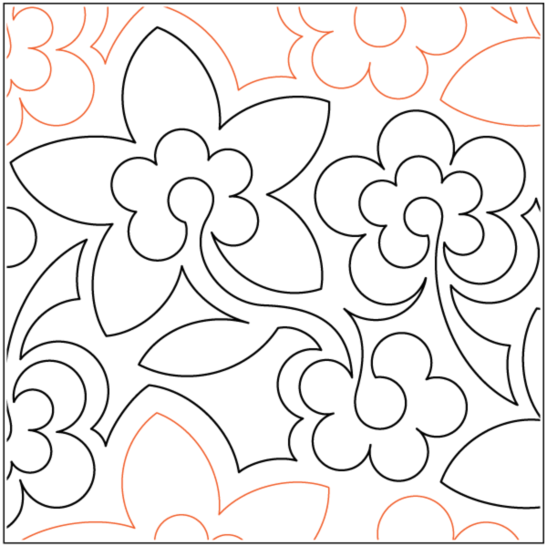 Flowerumpus Quilting Design